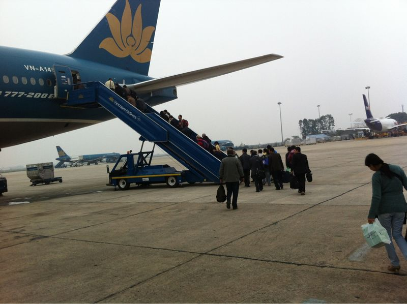 Boarding vietnam airlines